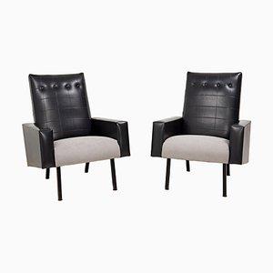 Mid-Century Armlehnstühle im Stile von Pierre Guariche, 1960er, 2er Set