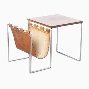 Rosewood Side Table with Magazine Rack from Brabantia, 1960s