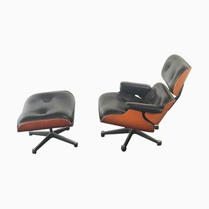 Vintage Miniature Museum Lounge Chair & Ottoman by Charles Eames & Ray Eames for Vitra, 1990s