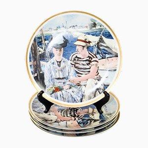 Vintage Limoges Teller, 4er Set
