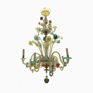 Late 19th Century Colorful Murano Chandelier