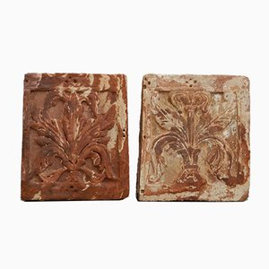 Antique Decorative Sandstone Ornaments, Set of 2