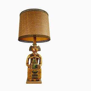 Mid-Century Keramik Boden- oder Tischlampe in Mystic and Majestic Maya Style