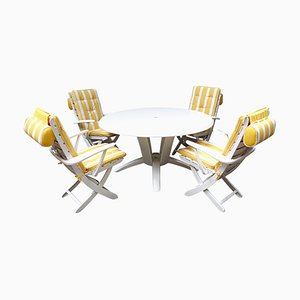 Mid-Century Modern Garden or Patio Set Rivièra from Triconfort, 1960s, Set of 5