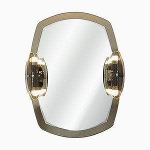 Hollywood Regency 2-Toned Mirror with Lights from Veca, 1960s