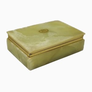 Vintage Italian Green Onyx Box, 1960s