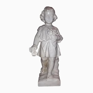 Antique Marble Child Sculpture