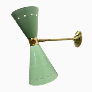 Messing Wandlampe, 1950er