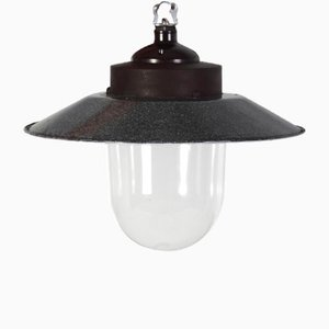 Industrial Czech Bunker Ceiling Lamp