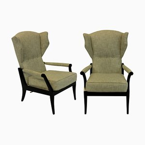 Italian Reclining Lounge Chairs, 1950s, Set of 2