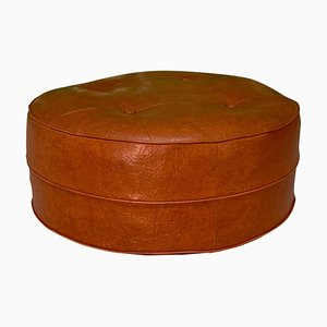 Mid-Century Round Hassock or Footstool