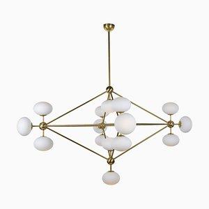 Lampada da soffitto Sputnik vintage in ottone