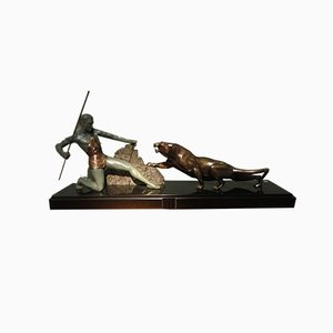 Art Deco Bronze Sculpture by Brault, 1920s