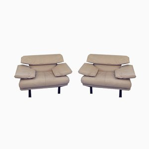Leather Alanda Lounge Chairs by Paolo Piva for B&B Italia / C&B Italia, 1980s, Set of 2