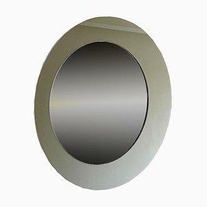 Italian Round Oblò Mirror in Glass