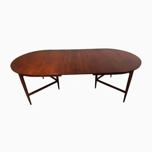 Large Rosewood Extendable Oval Astrid Dining Table by Werner Wölfer for V form, 1960s