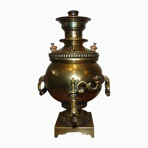 Antique Pre-War Tula Brass Samovar