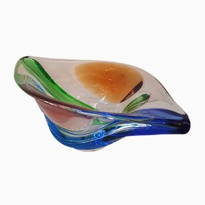 Large Rhapsody Glass Bowl by Frantisek Zemek for Mstisov, 1950s