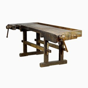 Carpenters Oak Workbench, 1900s
