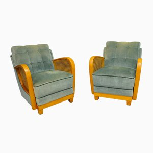 Art Deco Style Armchairs, 1950s, Set of 2