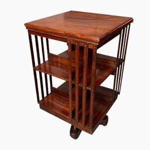 Antique Mahogany Revolving Bookcase by Maple & Co