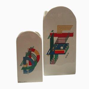 Alphabet Vasen von Morandini Marcello für Rosenthal, 1970er, 2er Set