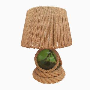 Lampe de Bureau String avec Base Sphérique en Verre Soufflé par Adrien Audoux & Frida Minet, 1960s