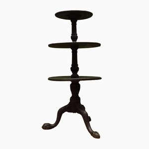Antique Black Painted Tiered Stand