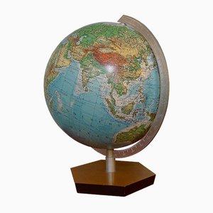 Globe Topographique Vintage par Ernst Kremling pour JRO-Verlag