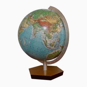 Vintage Topographical Globe by Ernst Kremling for JRO-Verlag