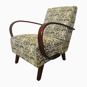 Mid-Century Floral Patterned Lounge Chairs by Jindřich Halabala for UP Závody, Set of 2