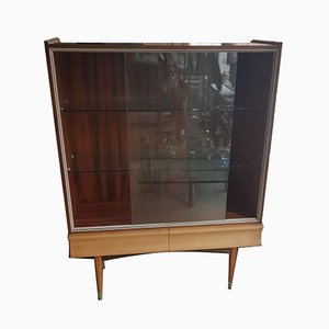 Mid-Century Cabinet with Glass Doors, 1950s
