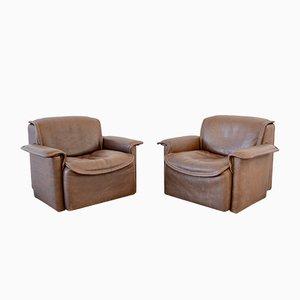 Vintage DS12 Armlehnstühle von de Sede, 1970er, 2er Set
