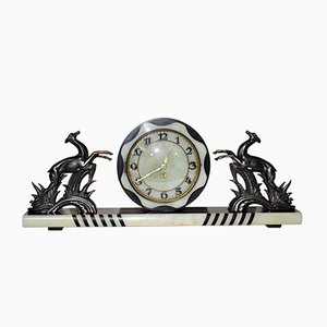 Large French Art Deco Mantel Clock, 1930s