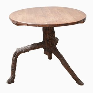 French Naive Sculptural Centre Table Gueridon, 1940s