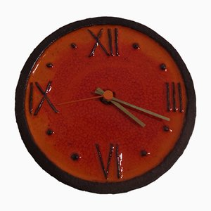 Ceramic Wall Clock from Junghans, 1970s