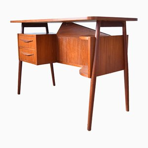 Danish Teak Floating Desk by Gunner Nielsen for Tibergaard, 1960s