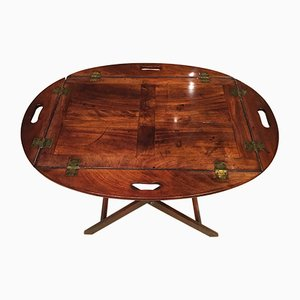 Antique Regency Mahogany Butlers Tray on Stand