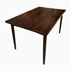 Mid-Century Swedish Rosewood Extendable Dining Table, 1950s