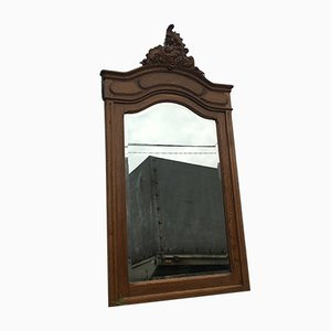 Rococo Style Carved Oak Mirror, 1920s