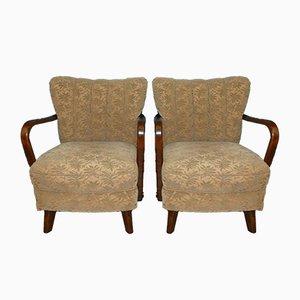 Club chair vintage, anni '30, set di 2