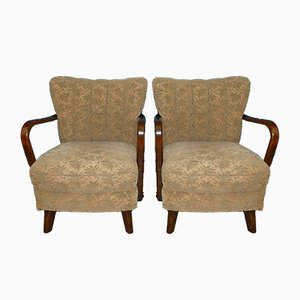 Vintage Club Chairs, 1930s, Set of 2