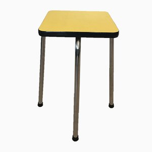Yellow Formica Flower Stand or Side Table, 1950s