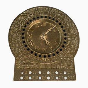 Brass Zodiac Clock, 1950s