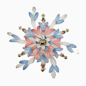 Hollywood Regency Floral Wall Light, 1970s