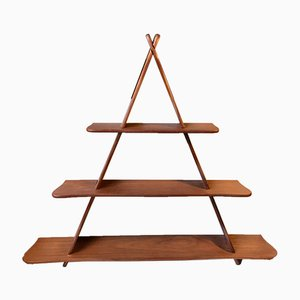 Danish Triangular Teak Wall Shelf Attributed to Peder Moos, 1950s