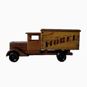 Vintage Wood Car Toy, 1940s