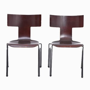 Vintage Anziano Dining Chairs by John Hutton for Donghia, 1980s, Set of 2