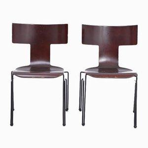 Vintage Anziano Esszimmerstühle von John Hutton für Donghia, 1980er, 2er Set