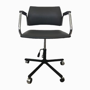 Vintage Grey Desk Chair from Kovona, 1986